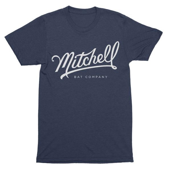 Mitchell Bat Co Script logo tee