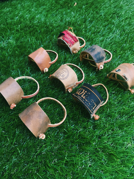 Old Glove Leather Bat Hangers