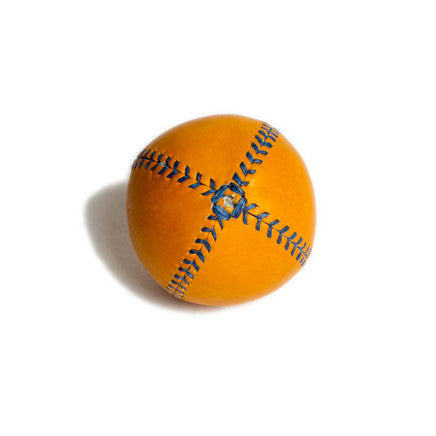 LEMON BALL™ baseball. Yellow Leather, Blue Stitch