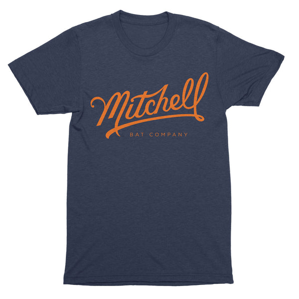 Mitchell Bat Co. short sleeve tee (navy/orange)