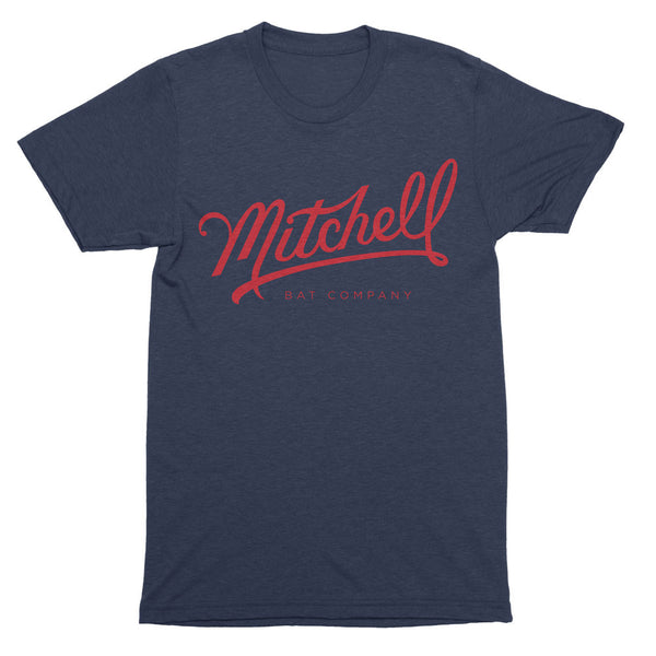 Mitchell Bat Co. short sleeve tee (navy/red)