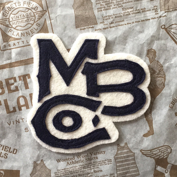 "Ebbets Field Flannels ""MBCO"" patch (navy)"