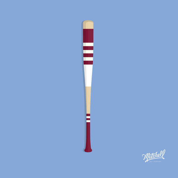 Mitchell Bat Illustration Poster