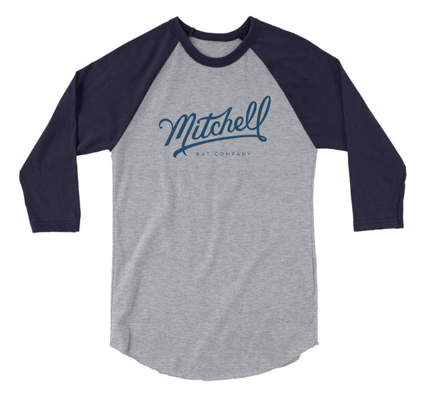 Mitchell Bat Co Raglan (gray/indigo)