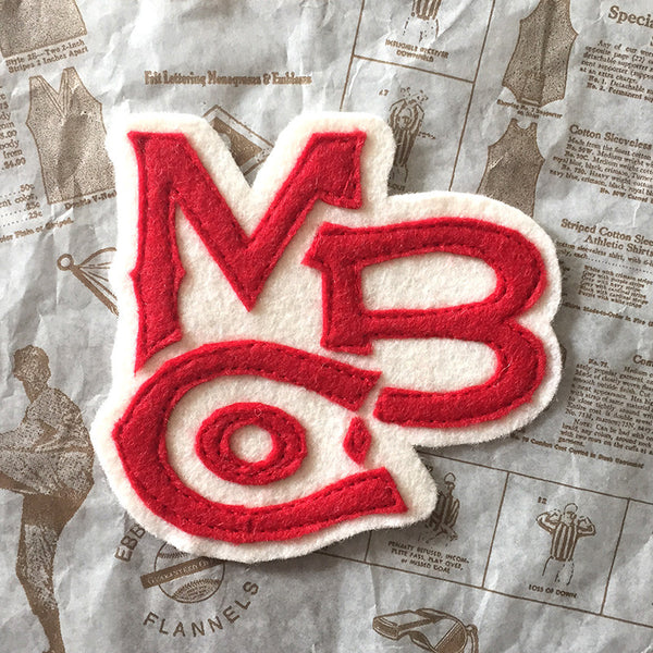 "Ebbets Field Flannels ""MBCO"" patch (red)"