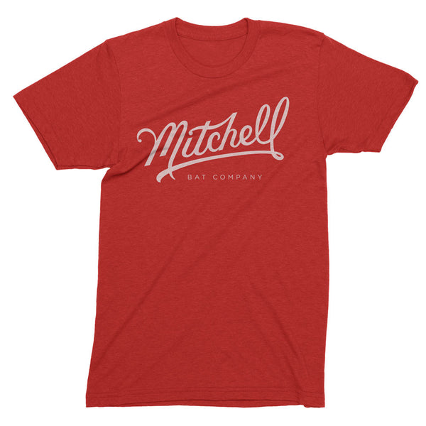 Mitchell Bat Co. short sleeve tee (red/white)