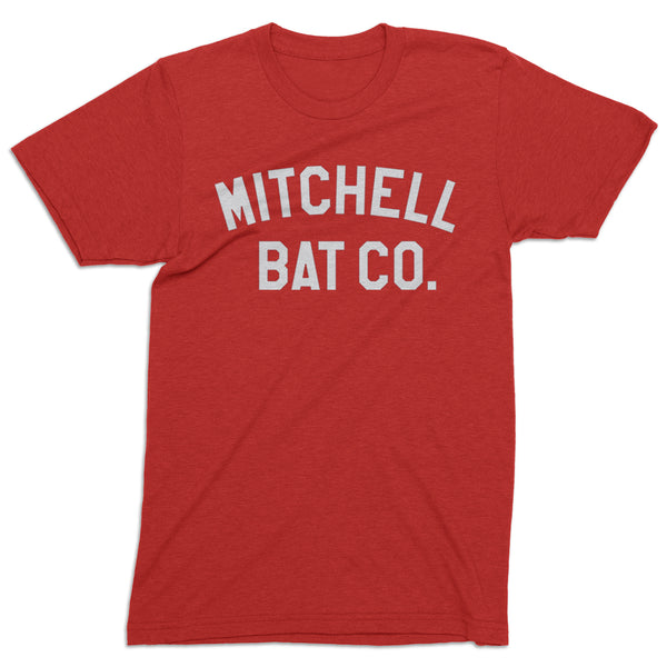 Mitchell Bat Co. short sleeve block tee (red/white)