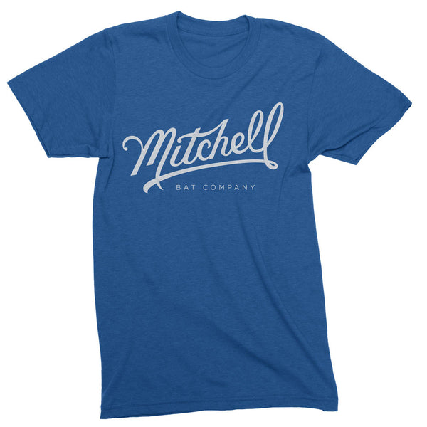 Mitchell Bat Co. short sleeve tee (royal blue/white)