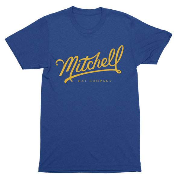 Mitchell Bat Co. short sleeve tee (royal blue/yellow)