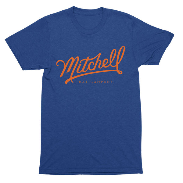 Mitchell Bat Co. short sleeve tee (royal blue/orange)