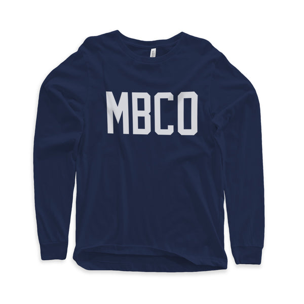 Varsity Mitchell Bat Co. long sleeve tee (navy)