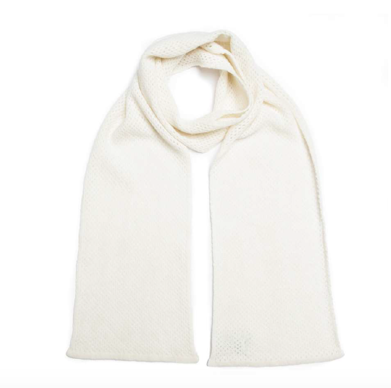 Green Thomas WHISPER scarf White