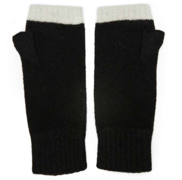 Green Thomas Fingerless Mitten pair Black
