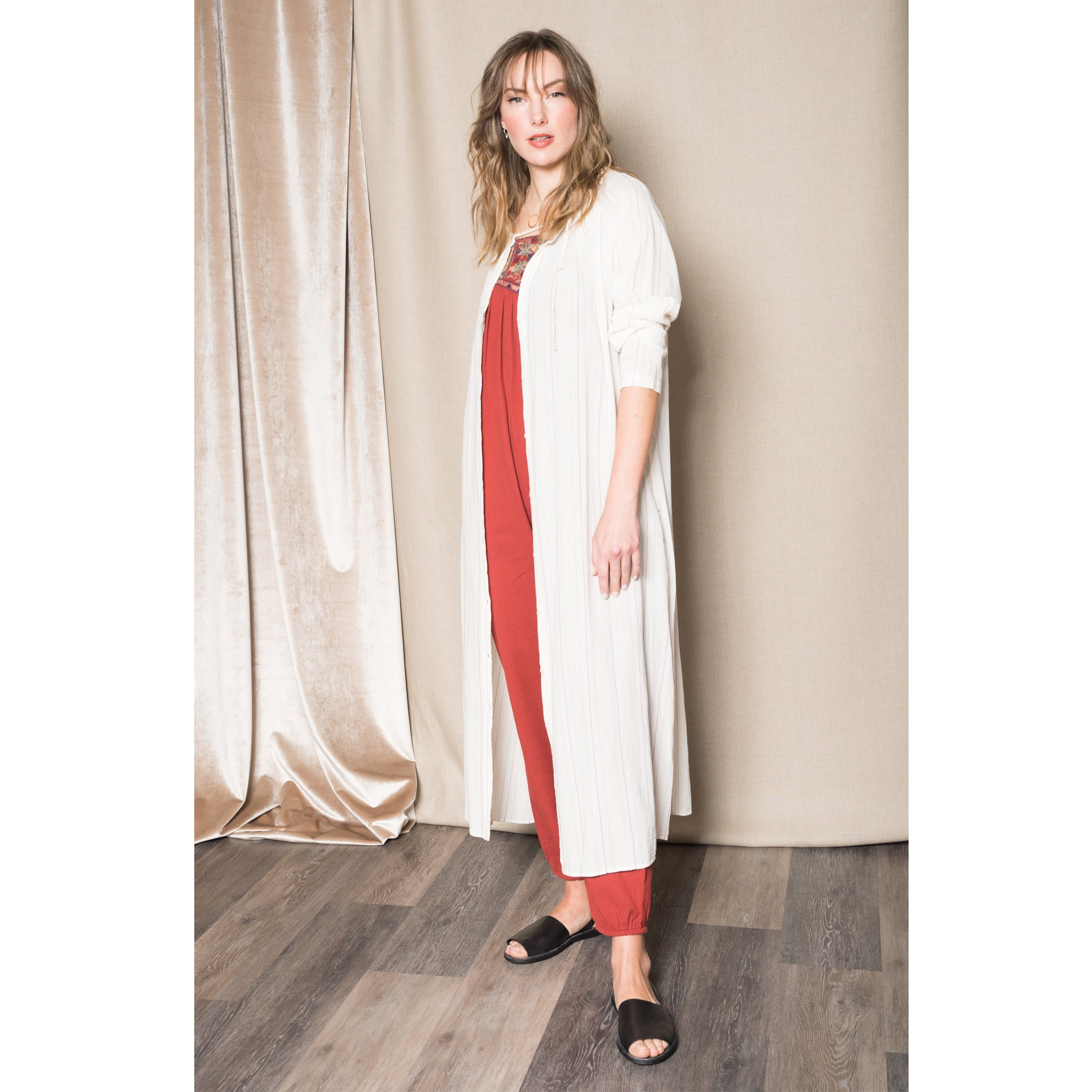Humanoid Ricky stripe salt dress