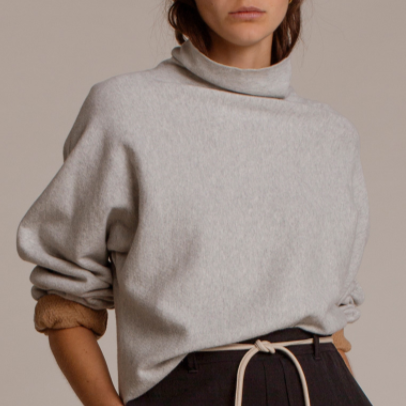 Humanoid Sweaters | Resi Grey Heather Knitted turtleneck pullover