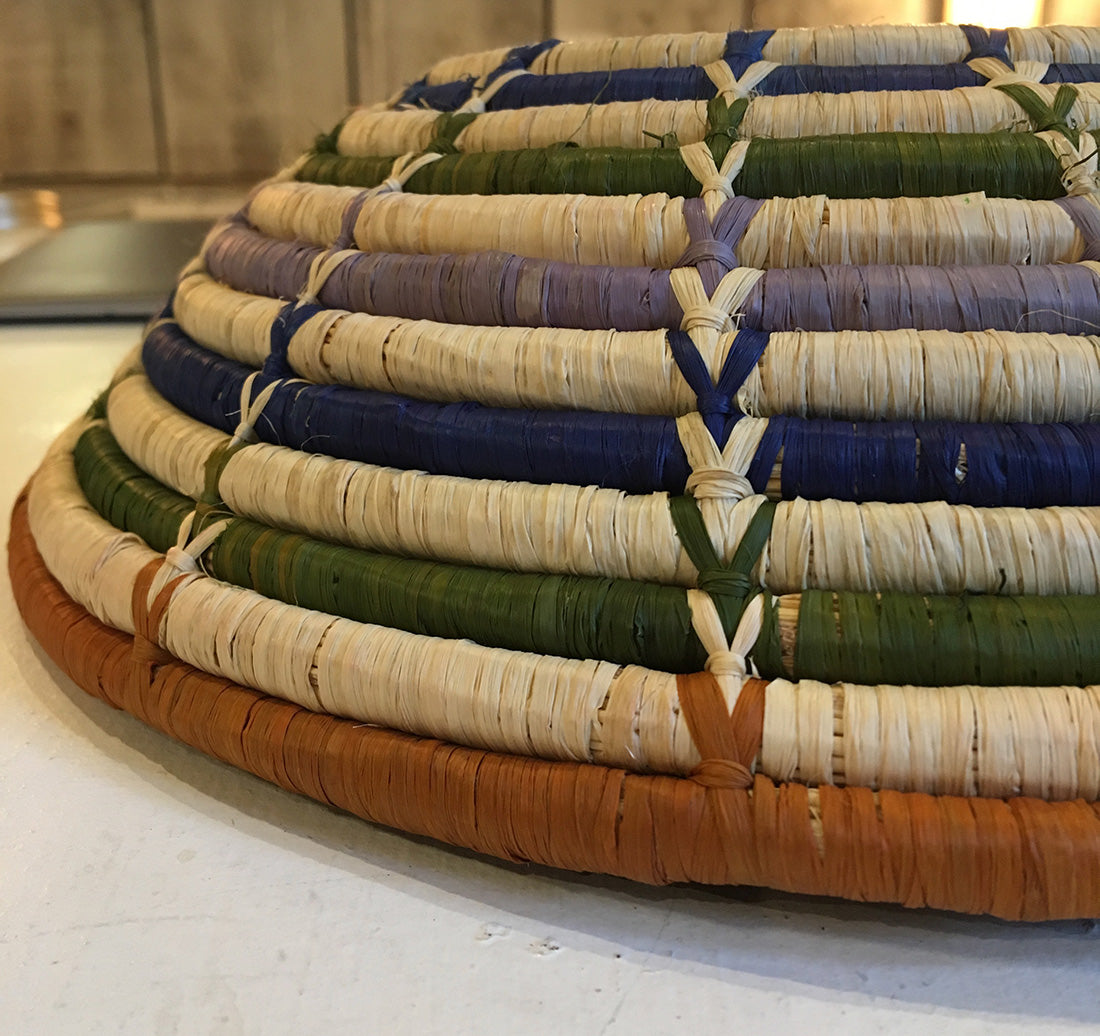 "Hand woven 12"" bowls"