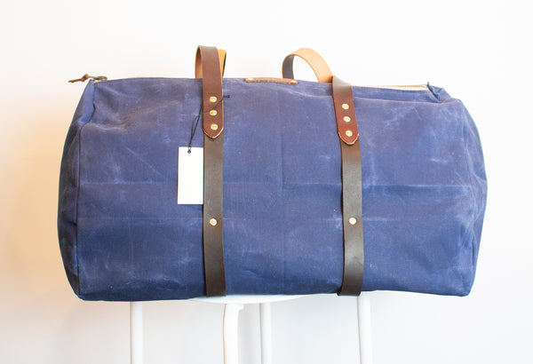MADE IN NY Waxed cotton Weekend duffle