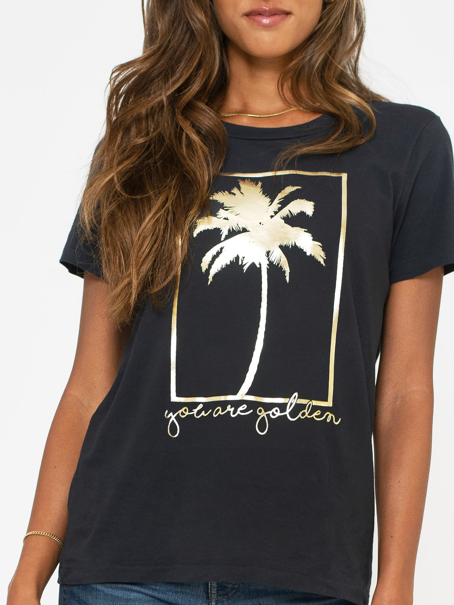 Sol Angeles You Are Golden crew tee