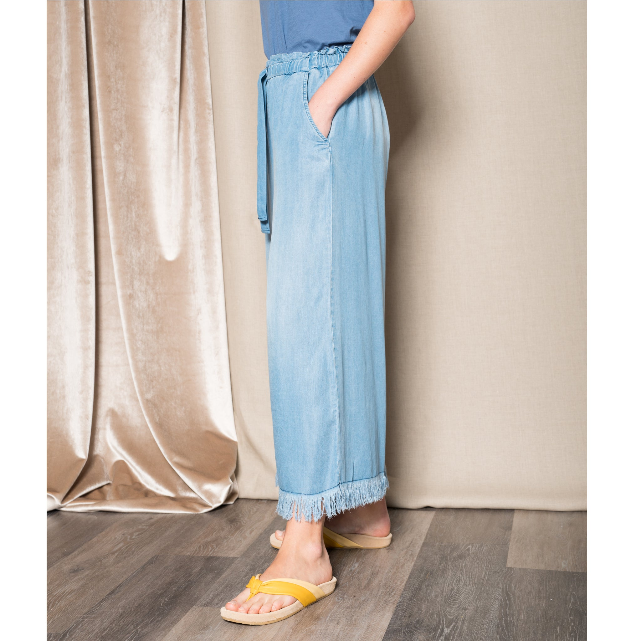 TINA + JO Wide leg pant in vintage wash