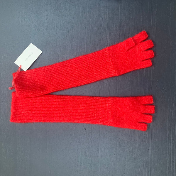 Humanoid BERKHE knitted fingerless gloves Bright Red