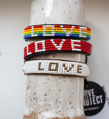 LOVE is Project - Otavalo White vegan LOVE bead bracelet