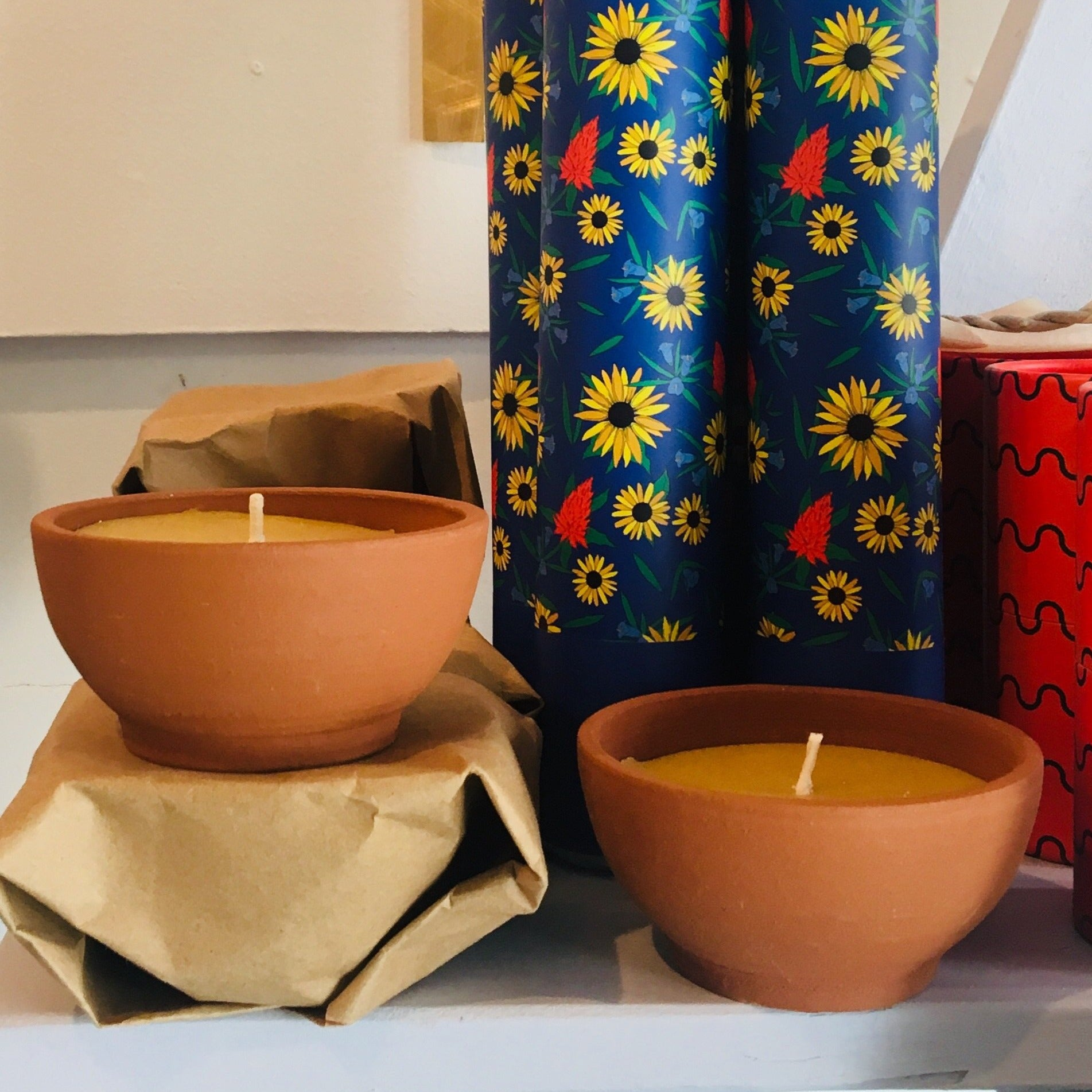 Fredericks and Mae Terracotta Candle Bowl