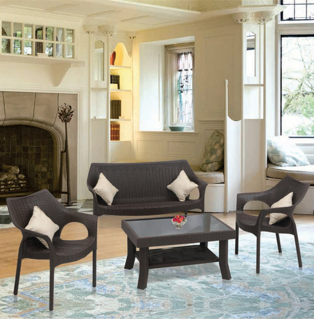 Supreme Cambridge Loves Seat Sofa Set 2 1 1 With Rogue Tempered Glass