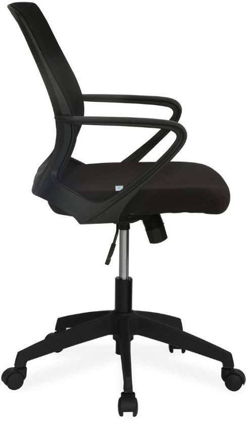 Nilkamal Scoop Mid Back Office Chair (Black) - HOMEGENIC