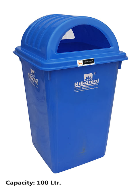 Nilkamal Waste Bin 100 Litre Blue (Swachh Bharat Mission) Collection - HOMEGENIC