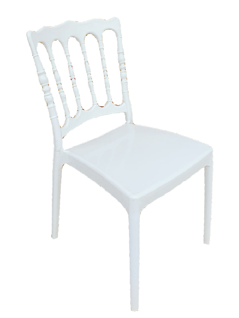 National Leon PP Plastic Chair for Living Room (Super White)
