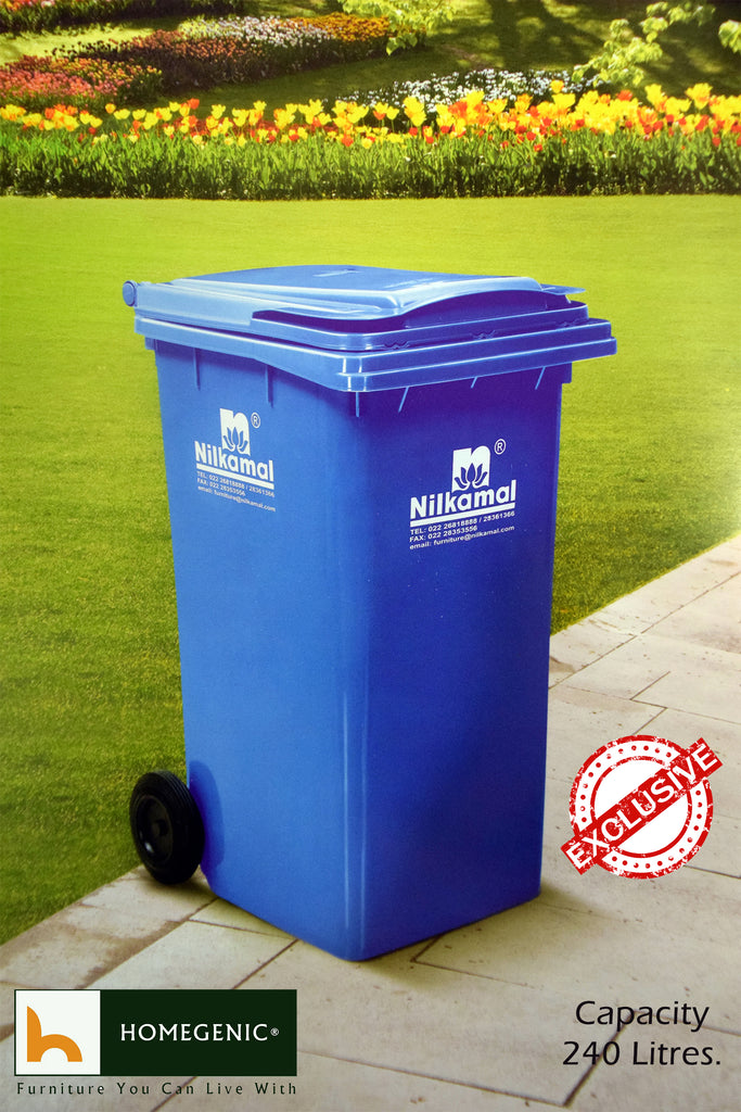 Nilkamal 240 Ltr Wheel Garbage Dustbin