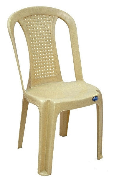 ... Nilkamal Armless Chair Set Of 02 (Beige)   HOMEGENIC