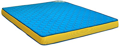 Nilkamal Cool Bond 5-inch Double Size Rubberised Coir Mattress (Blue, 72x48x5) - HOMEGENIC