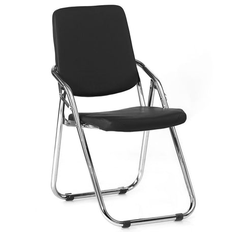 Hardy Folding Chair for Office and Student (Black)