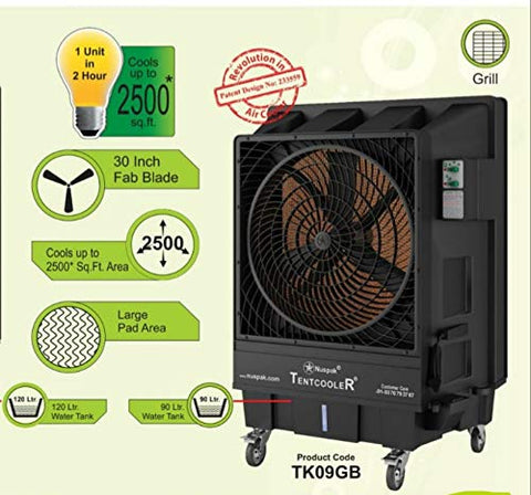 "Nuspak Commercial Air Cooler 30"" Fan with 90 litre Capacity - HOMEGENIC"
