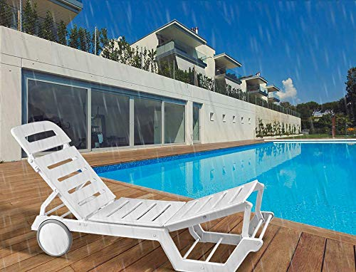 Italica Sunlounger Recliner (Matte Finish, White)
