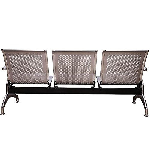 Nilkamal Italia 3 Seater Bench Reception Chair (Silver)