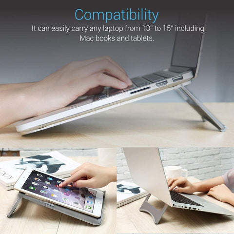 "Homegenic Air Vented Multi-Function Folding Portable Table Stand for Laptops (13"" to 15"" Laptop) - HOMEGENIC"