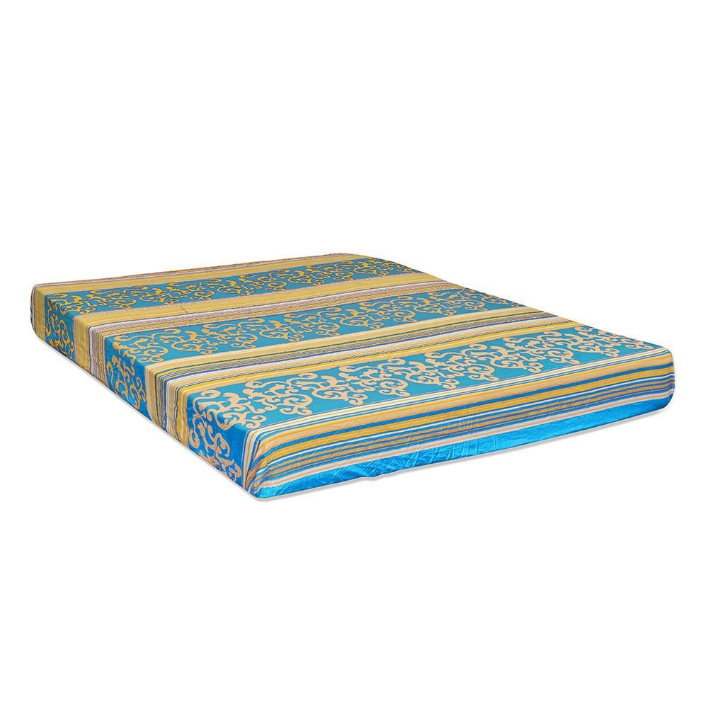 Nilkamal Cool Bond 5-inch Double Size Rubberised Coir Mattress (Blue, 78x72x5) - HOMEGENIC