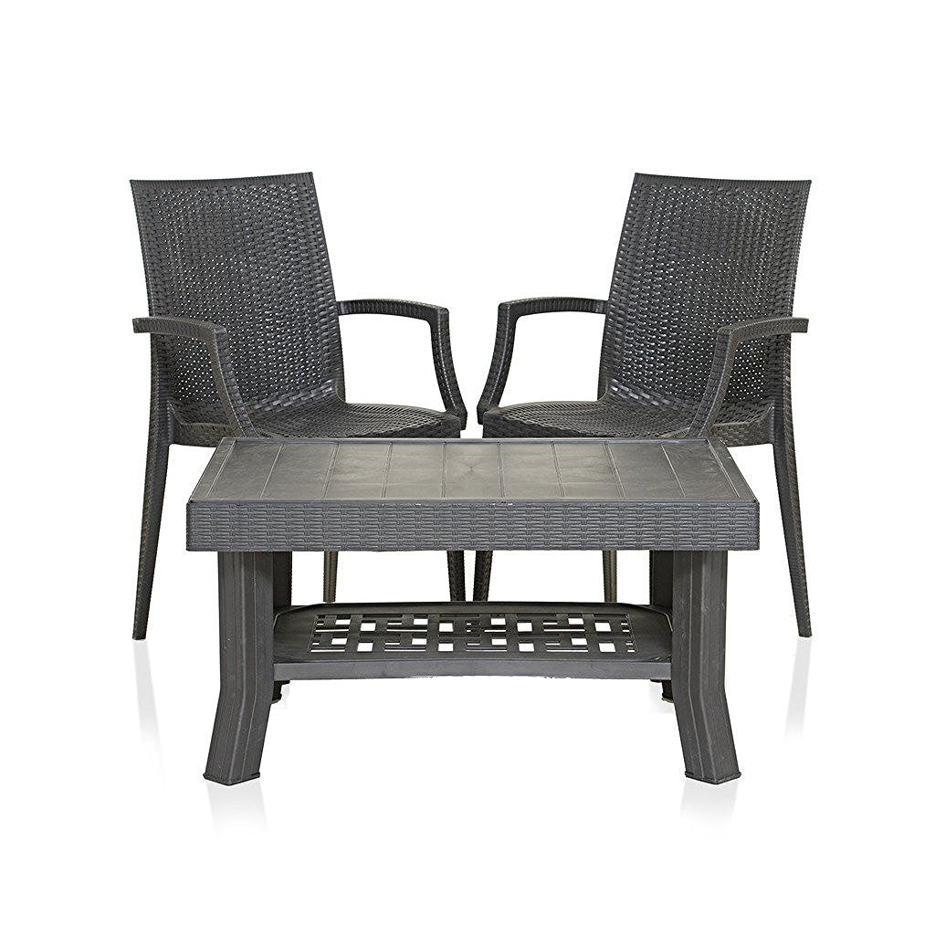 Varmora 1+2 Coffee Table Set Wizard (Black) - HOMEGENIC  sc 1 st  homegenic : chair table set - pezcame.com