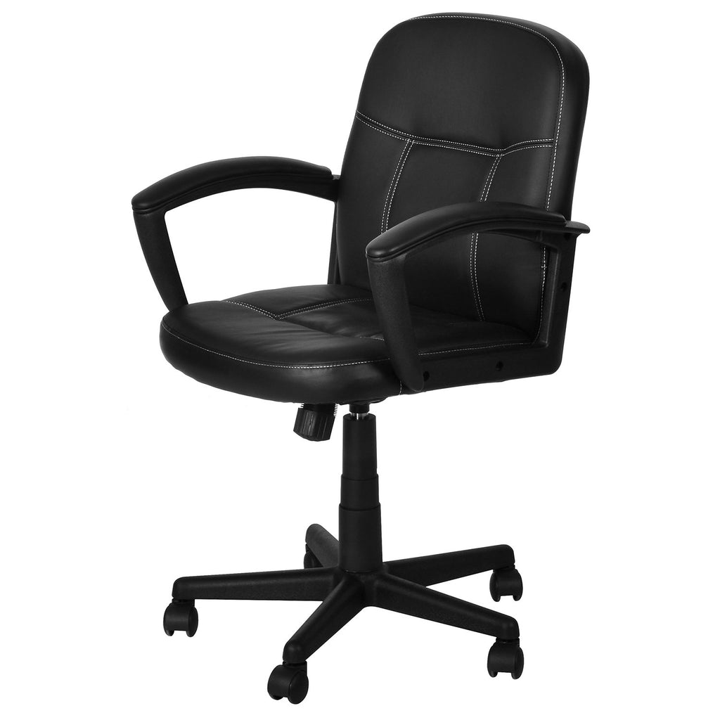 Nilkamal Mayor Low Back Office Chair (Matte Finish, Black) - HOMEGENIC