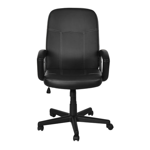 Nilkamal Mayor Medium Back Office Chair (Matte Finish, Black) - HOMEGENIC