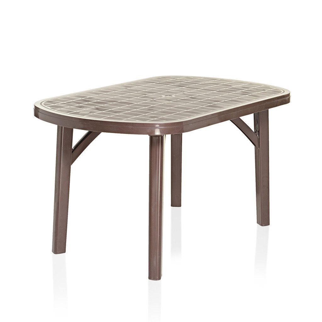 Varmora Desire 6 Seater Dining Table Brown Color