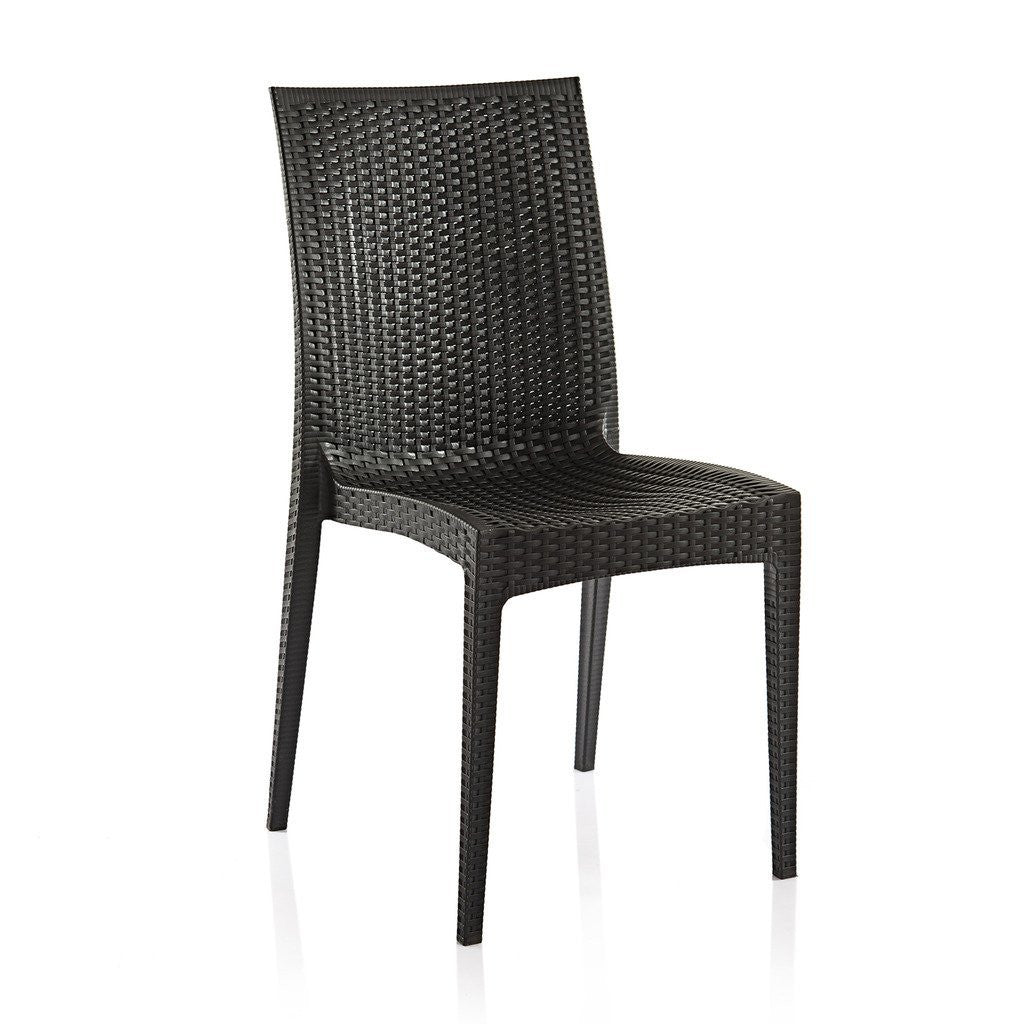 Varmora Designer Chair Set of 2 (Club - Black) - HOMEGENIC