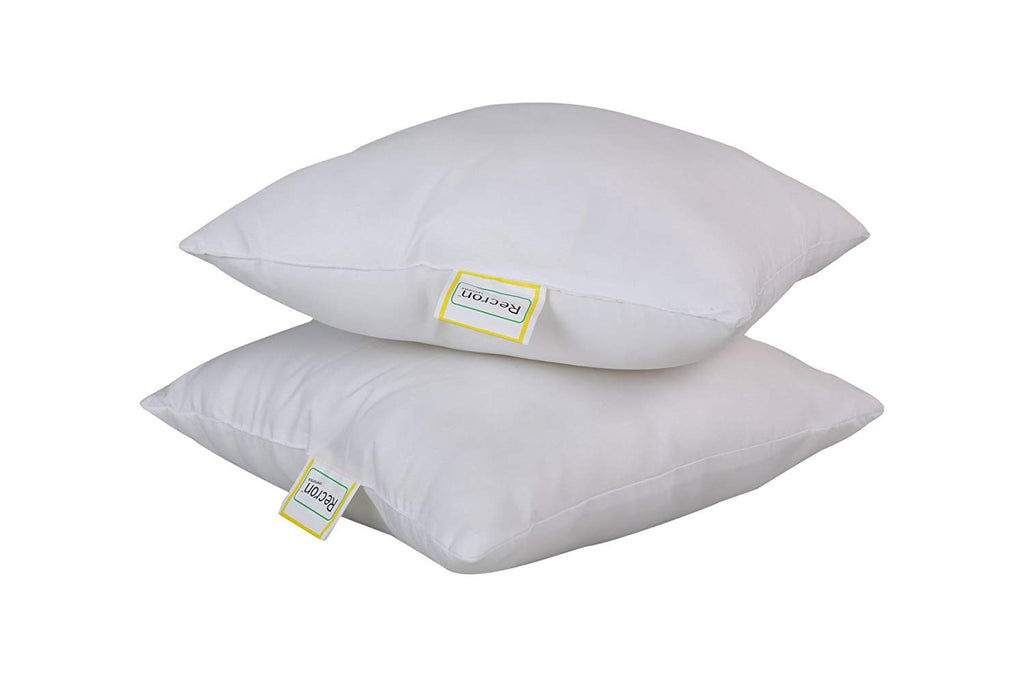 Recron Certified Paradise Microfiber Cushions 16 x 16 inch, White - Set of 5