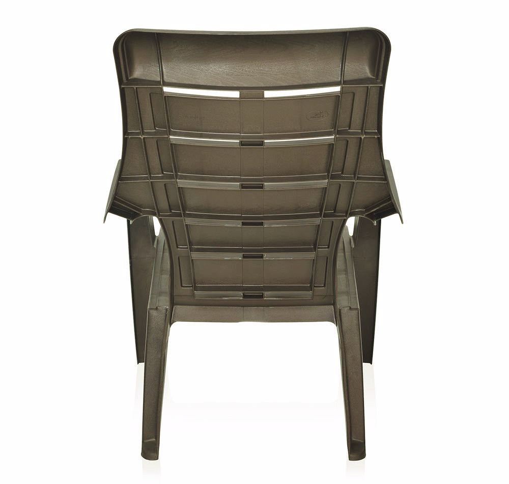 Nilkamal Sunday Garden Chair, Set of 2 (Weather Brown) - HOMEGENIC