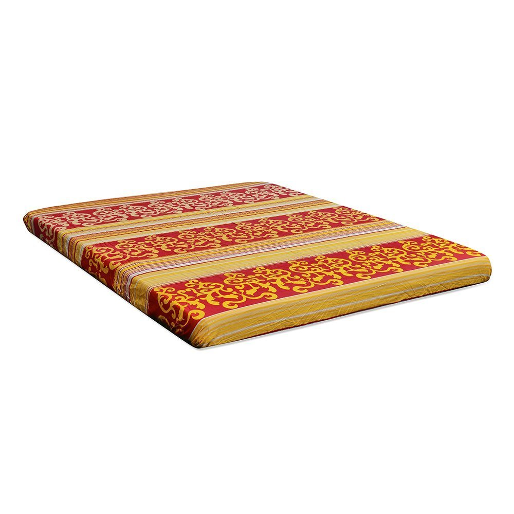 Nilkamal Value+ 4-inch Double Size Foam Mattress (Maroon, 75x72x4) - HOMEGENIC