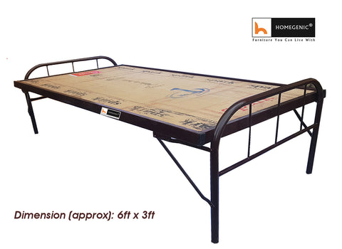 Homegenic Smart Single Size Folding Guest Bed with Plywood Top (MAKE IN INDIA PROJECT-VOCAL FOR LOCAL) - HOMEGENIC