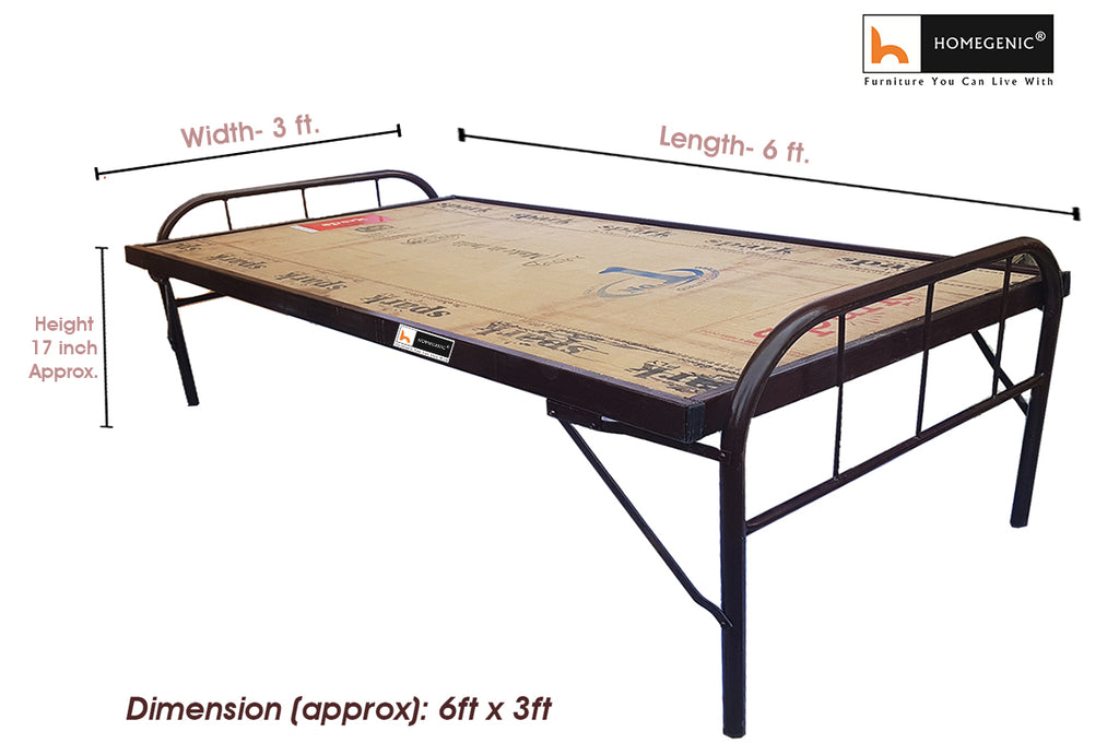 Homegenic Smart Folding Guest Bed with Plywood Top 6x3 (MAKE IN INDIA PROJECT-VOCAL FOR LOCAL) - HOMEGENIC