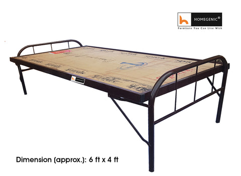 Homegenic Smart Double Size Folding Guest Bed with Plywood Top (MAKE IN INDIA PROJECT-VOCAL FOR LOCAL) - HOMEGENIC